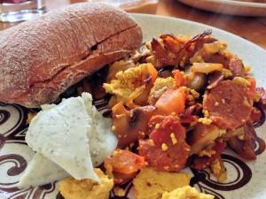 Vegan Tofu and Sausage Scramble