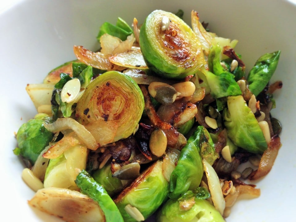 Nutty Vegan Brussels Sprouts