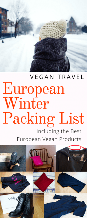vegan winter packing list