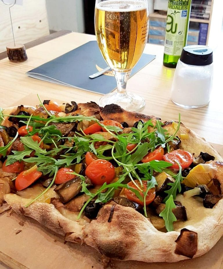 Vegan Pizza at Brunchit in Malaga Spain