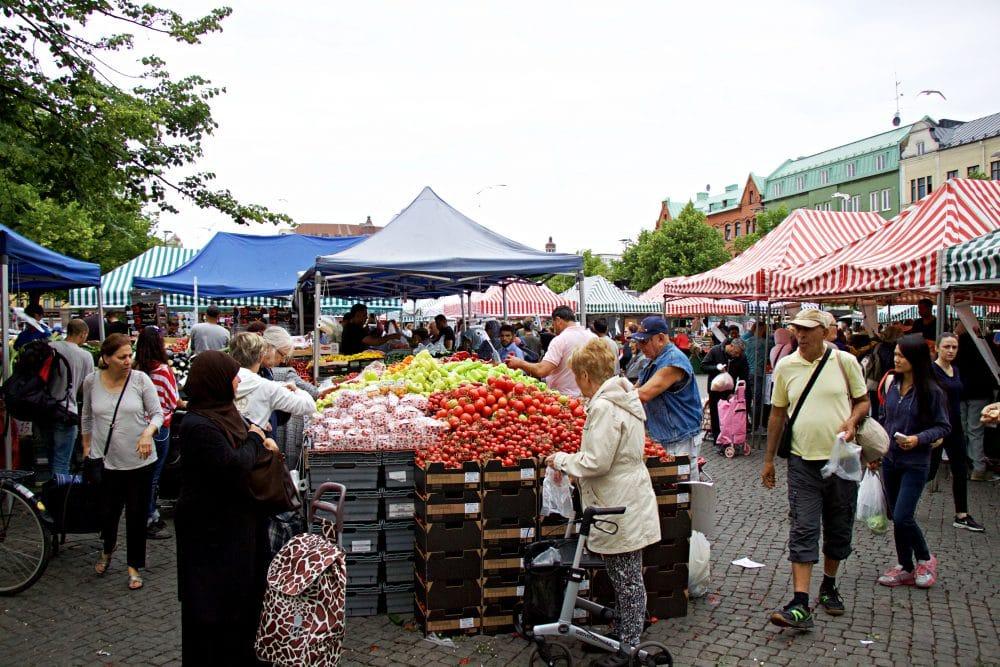 Möllevångstorget Market in Malmo