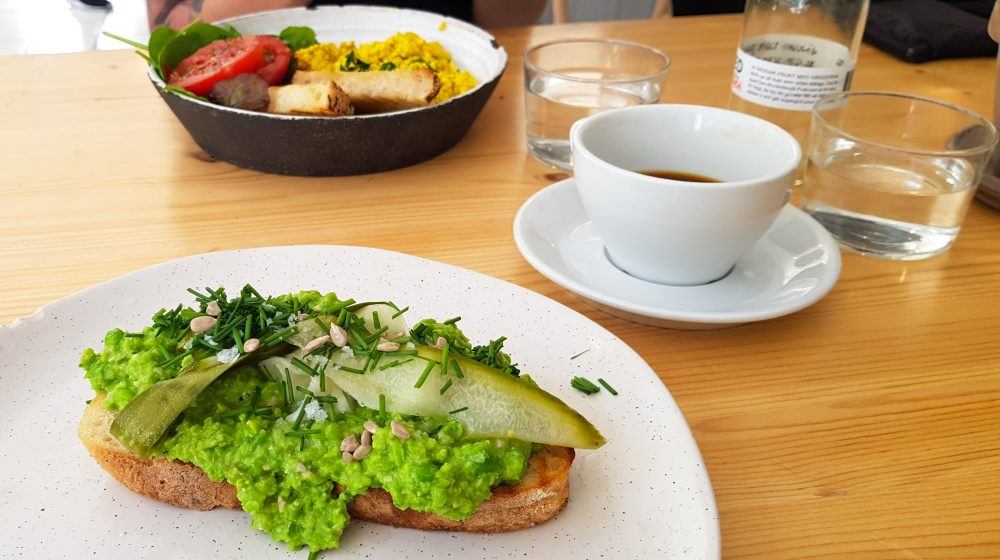Vegan Pea Pesto Sandwich from Jord in Malmo Sweden