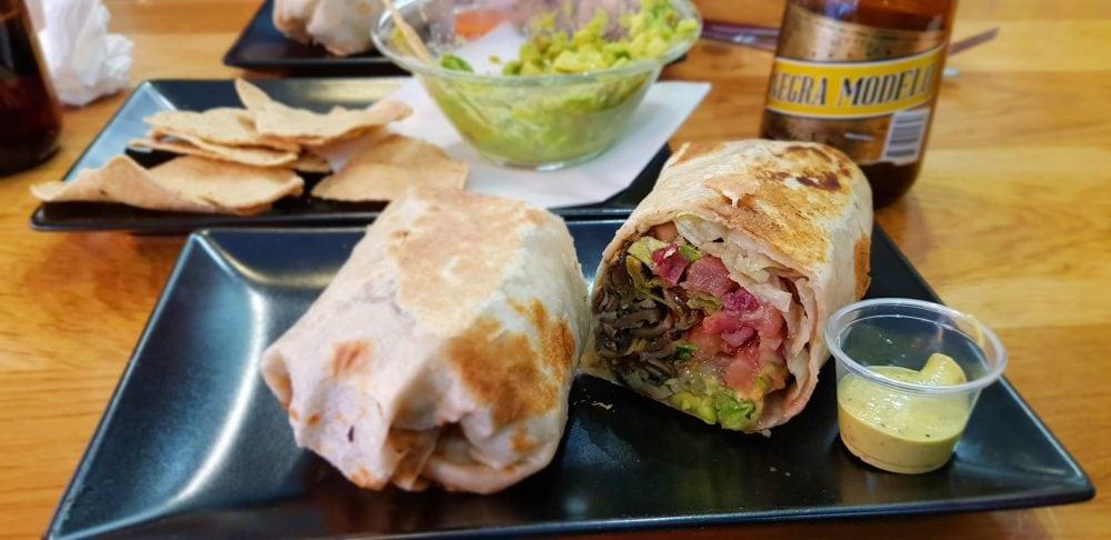 Vegan Burrito at El Guacamole in Paris