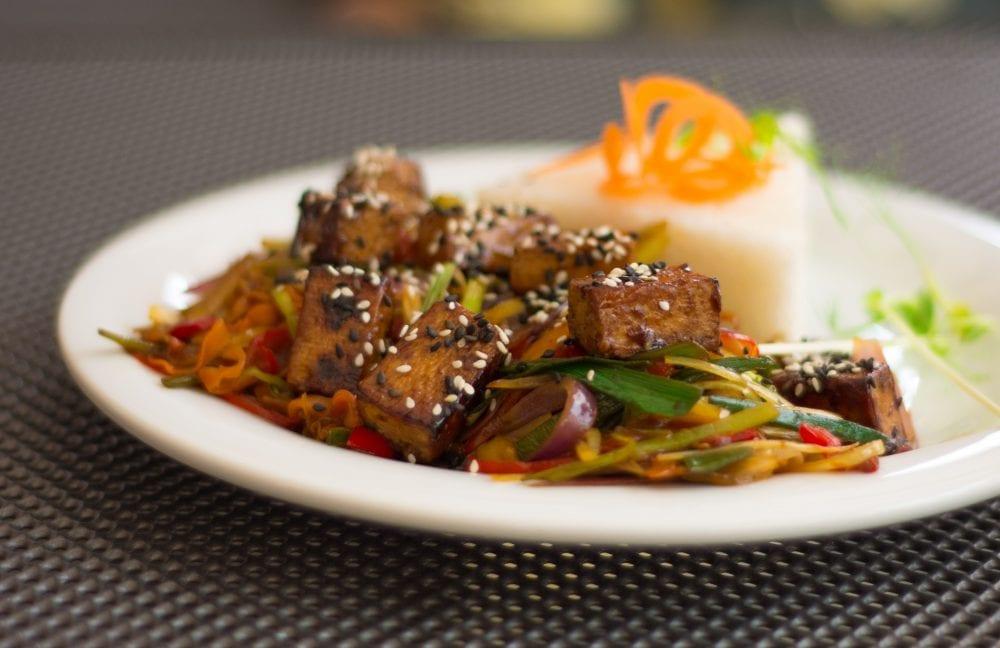 Vegan Asian Stir-Fry from Slunce Vegan Restaurant in Ceske Budejovice Czech Republic