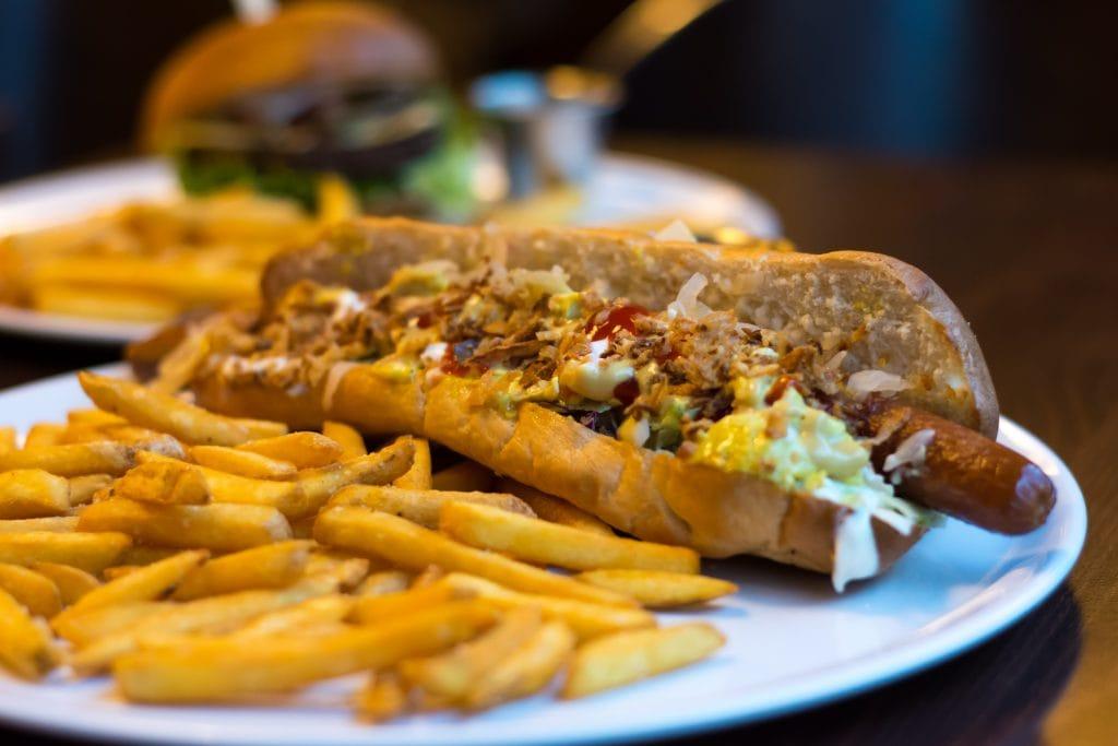 Leonardo Vegan Hot Dog in Ceske Budejovice Czech Republic