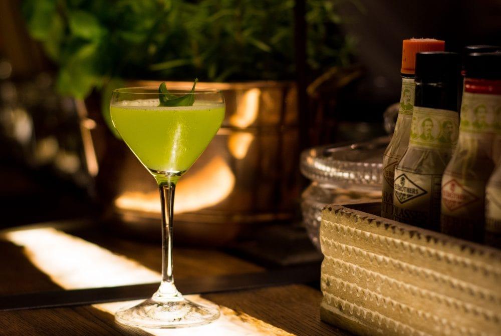 Basil Smash from Poetic Cocktail Bar Žlutá Ponorka
