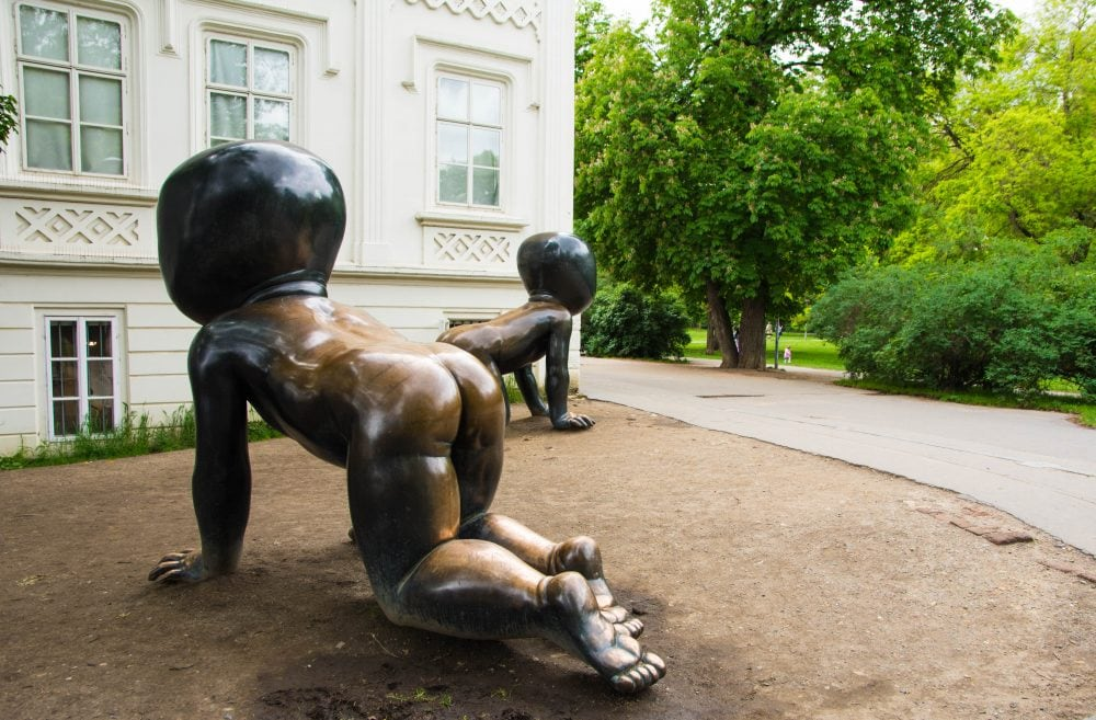 David Cerny Babies at Kampa Island in Prague