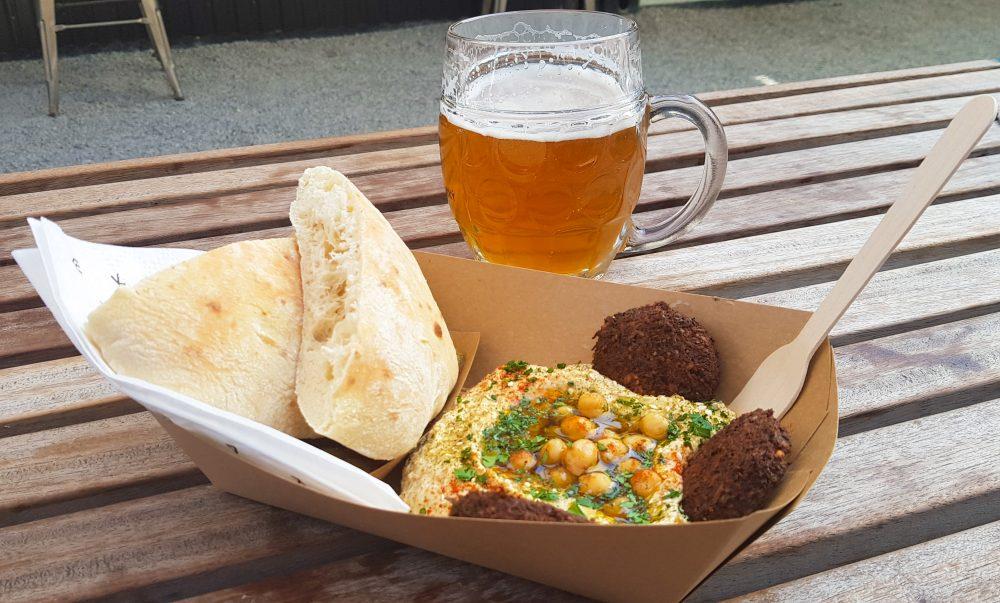 Vegan Falafel and Hummus at Manifesto Market