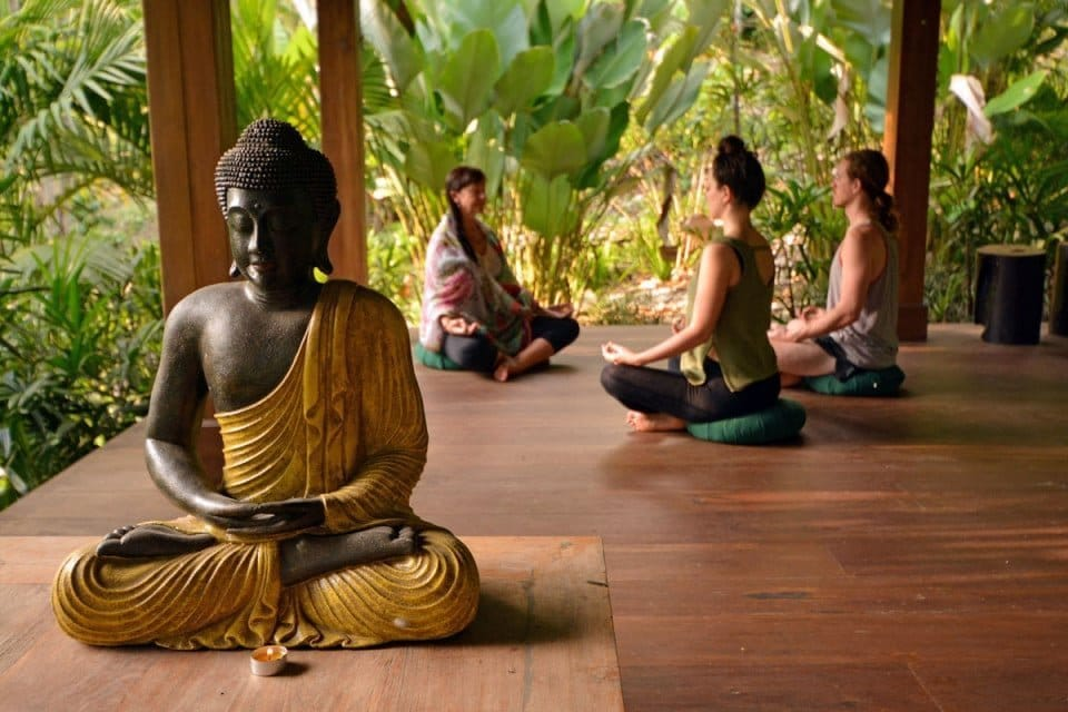 Yoga Class at The Pandora Hotel in Bali