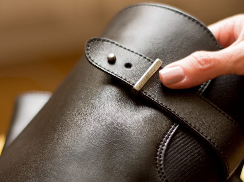 Will's Vegan Leather Riding Boots Detail