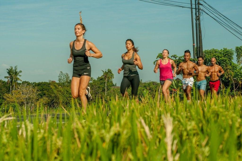 Running at Fitness Retreats Bali S2S Bali Retreat