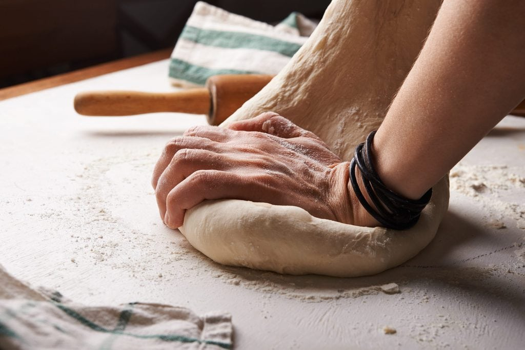 what is gluten - kneading dough